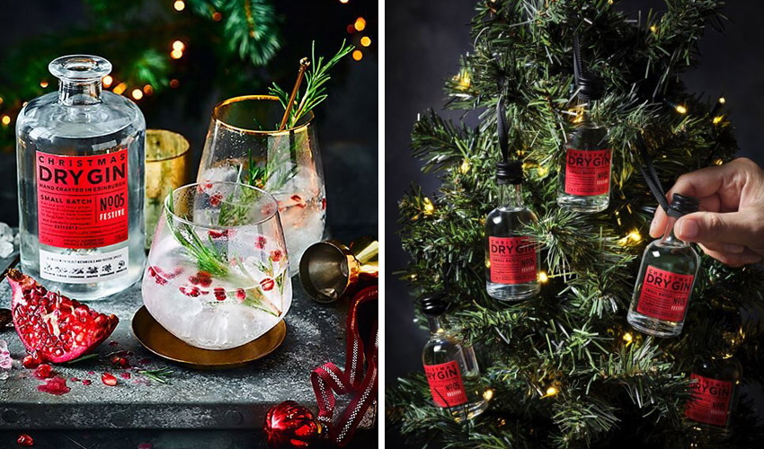 M&S Christmas gin baubles