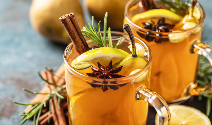 mcqueen clementine and cinnamon gin hot toddy