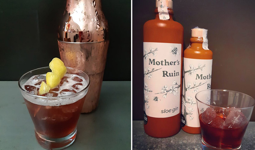 mothers ruin sloe gin liqueur