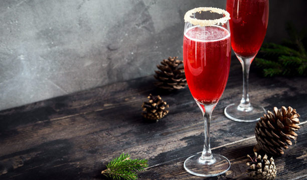 Featured Image for 'Snow'-Tinged Pomegranate Red Cocktail Is Festive Perfection