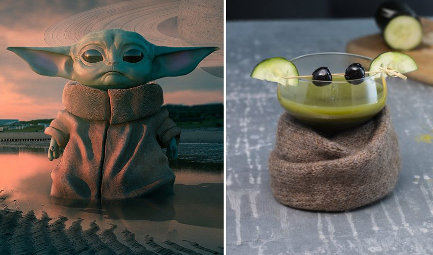 Featured Image for Baby Yoda Makes the Cutest Inspiration for a Sweet and Spicy Gin Cocktail