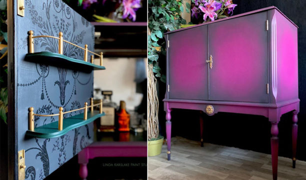 This Stunning Upcycled Gin Cabinet Is Next-Level Inspirational