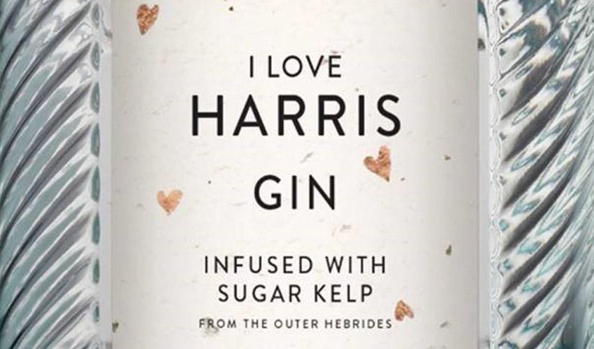 i love harris gin bottle