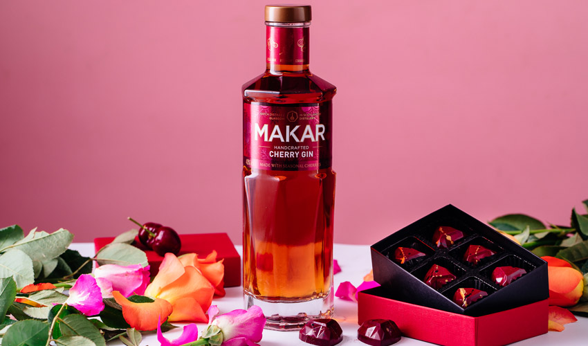 makar cherry gin chocolates