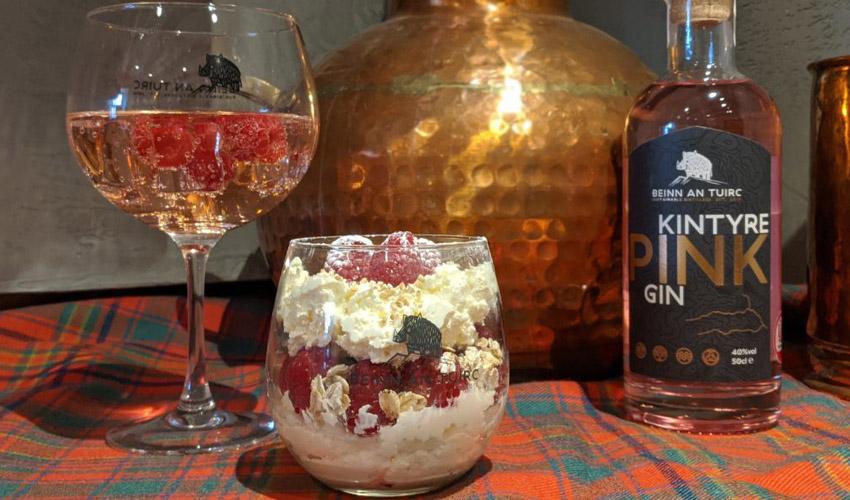 pink gin cranachan