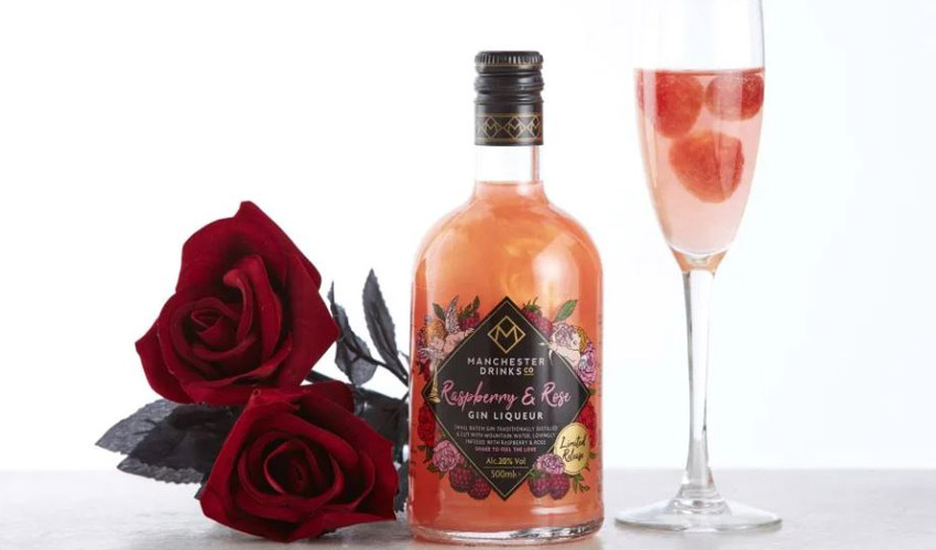 raspberry & rose gin liqueur
