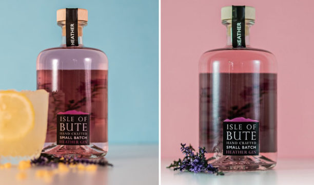 Isle of Bute Heather Gin Is Made Pink by Hand-Picked Wild Scottish Heather
