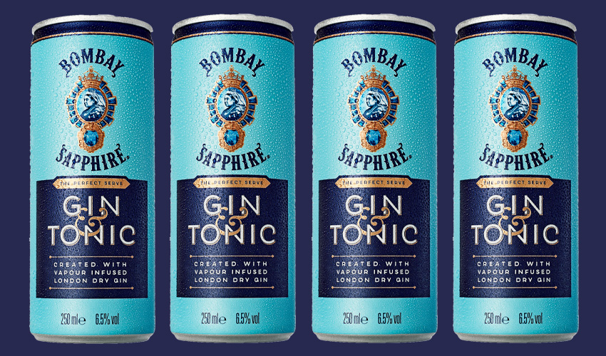 bombay sapphire gin in a can