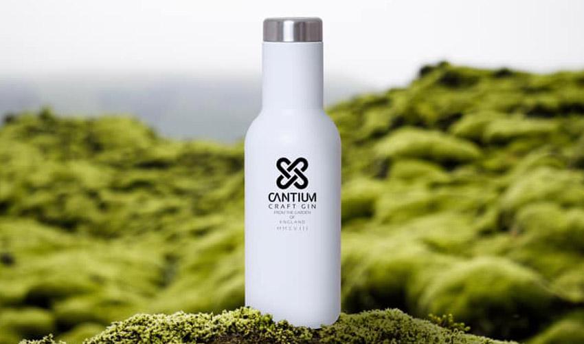cantium gin reusable flask