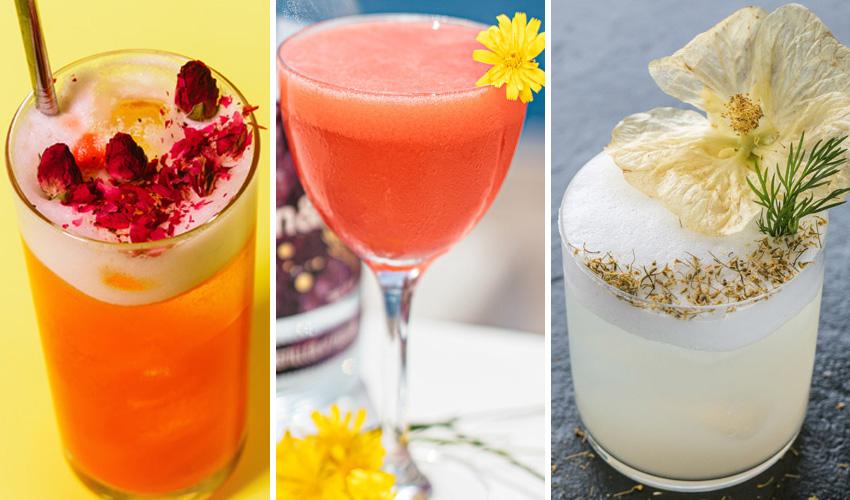 floral gin cocktails