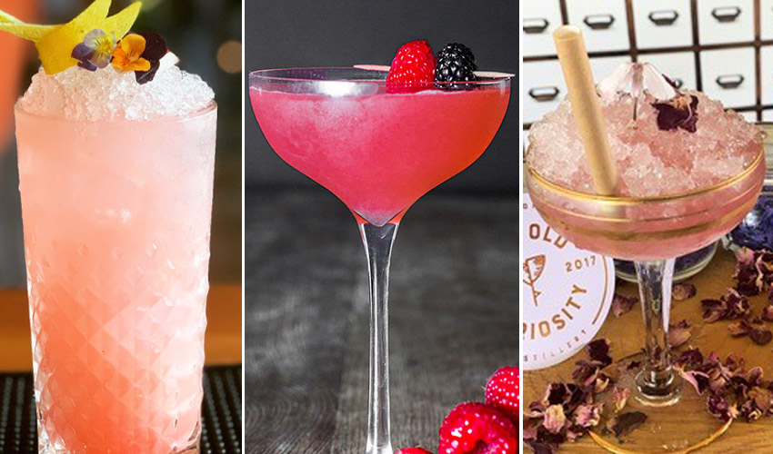 pink gin cocktails