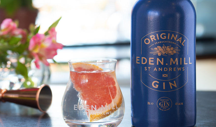 Featured Image for Eden Mill Turn Award-Winning Gin Bottle Blue to Support the NHS
