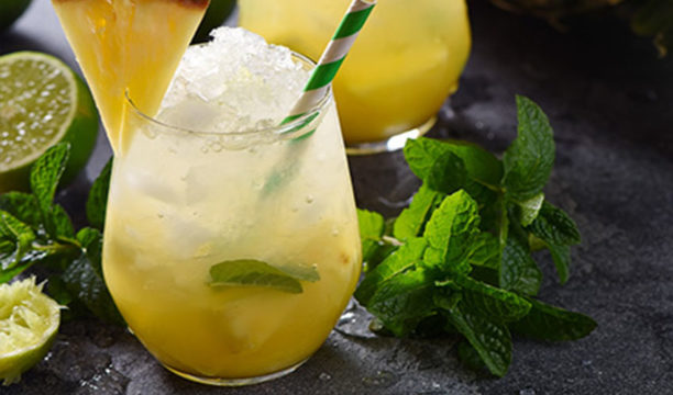 A Totally Tropical Pineapple Gin Fizz Is the Bright and Breezy Cocktail We All Need Right Now