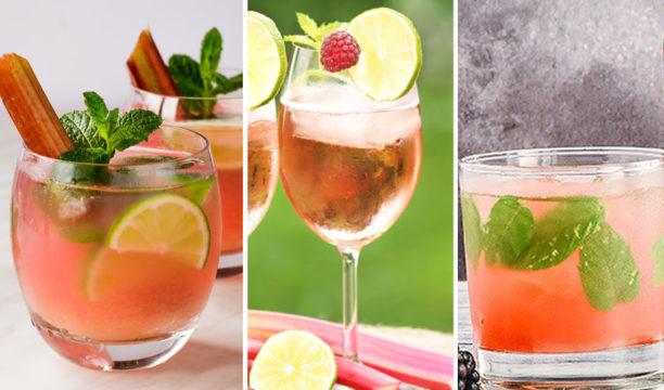 rhubarb gin cocktails