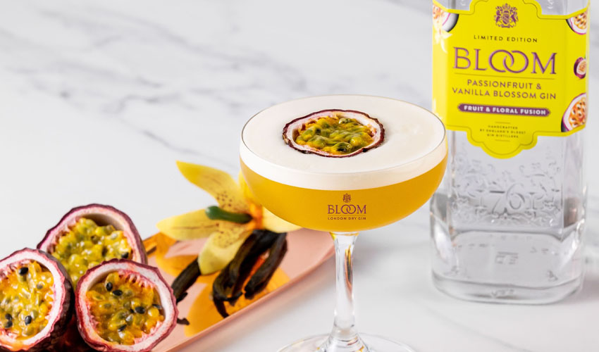 bloom passion fruit & vanilla gin