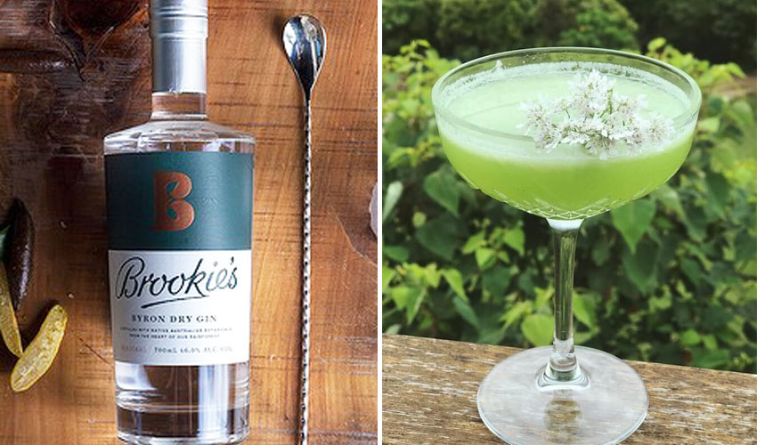 cucumber & lime gin cocktail