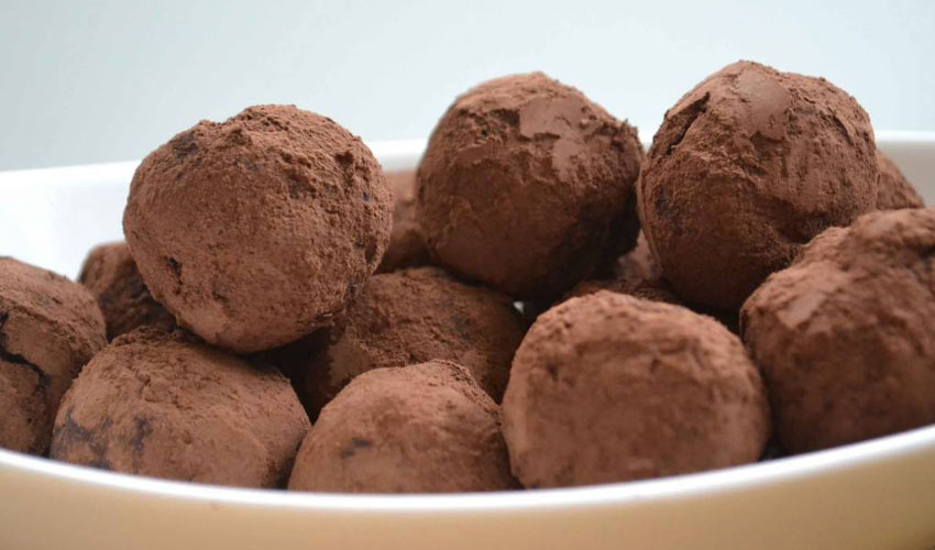 gin and chocolate orange truffles