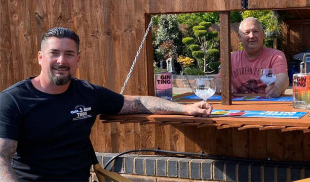 Featured Image for Neighbours Create a Gin Bar Hatch in Their Garden to Keep in Touch During Lockdown