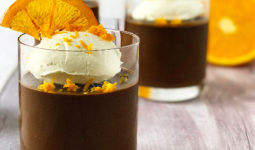 gin chocolate mousse
