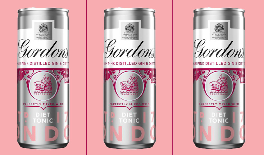 gordons pink gin & diet tonic