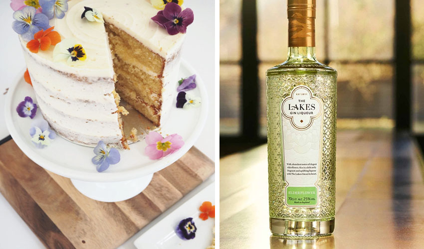 elderflower gin cake