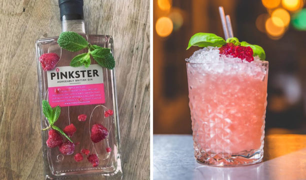 pinkster gin and jam cocktail