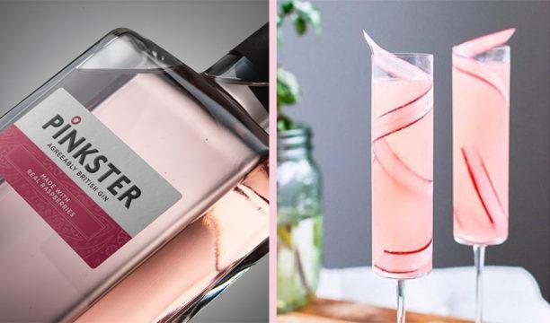 rhubarb pink gin prosecco