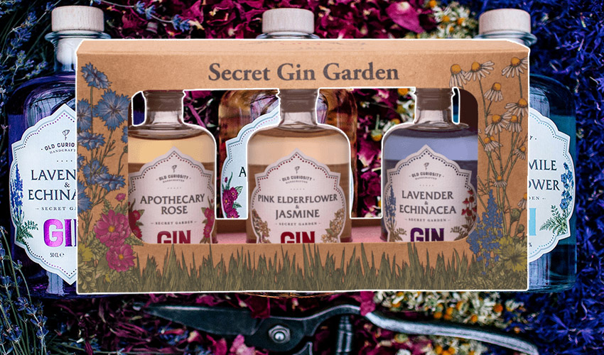 Featured Image for This Enchanting Colour Changing Gin Tasting Pack Will Whisk You Away to a Secret Garden