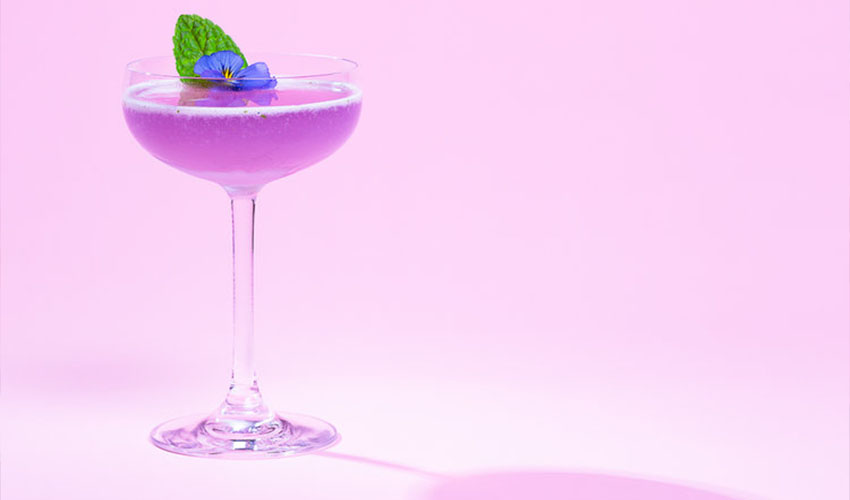 violet southside cocktail
