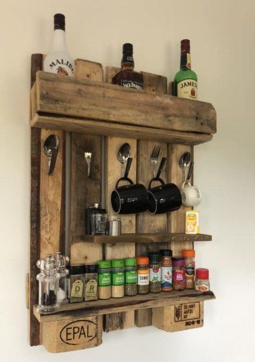 diy gin shelves