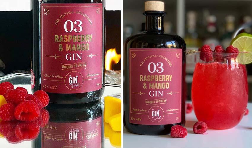 raspberry & mango gin slushie