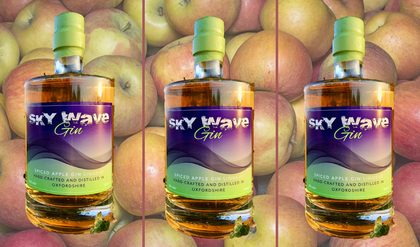 sky wave spiced apple gin liqueur