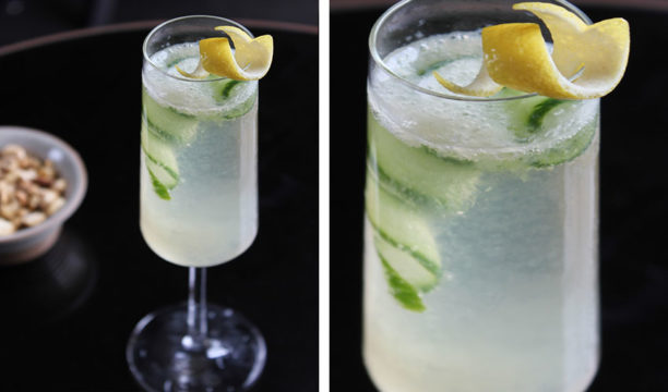 A Sparkling Cucumber and Elderflower Fizz Looks Simply Sophisticated in a Glass