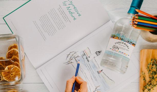 gin colouring book
