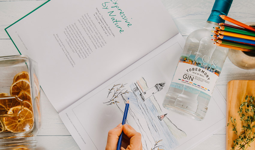 gin colouring book