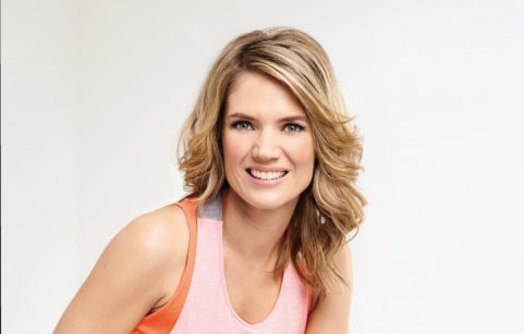 Charlotte Hawkins wearing gym clothes