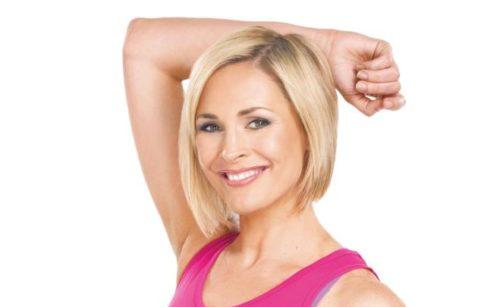 Jenni Falconer in fitness gear