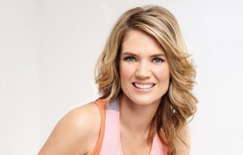 Charlotte Hawkins in fitness clothes