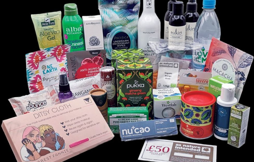 Here's the prize bundle of products from As Nature Intended