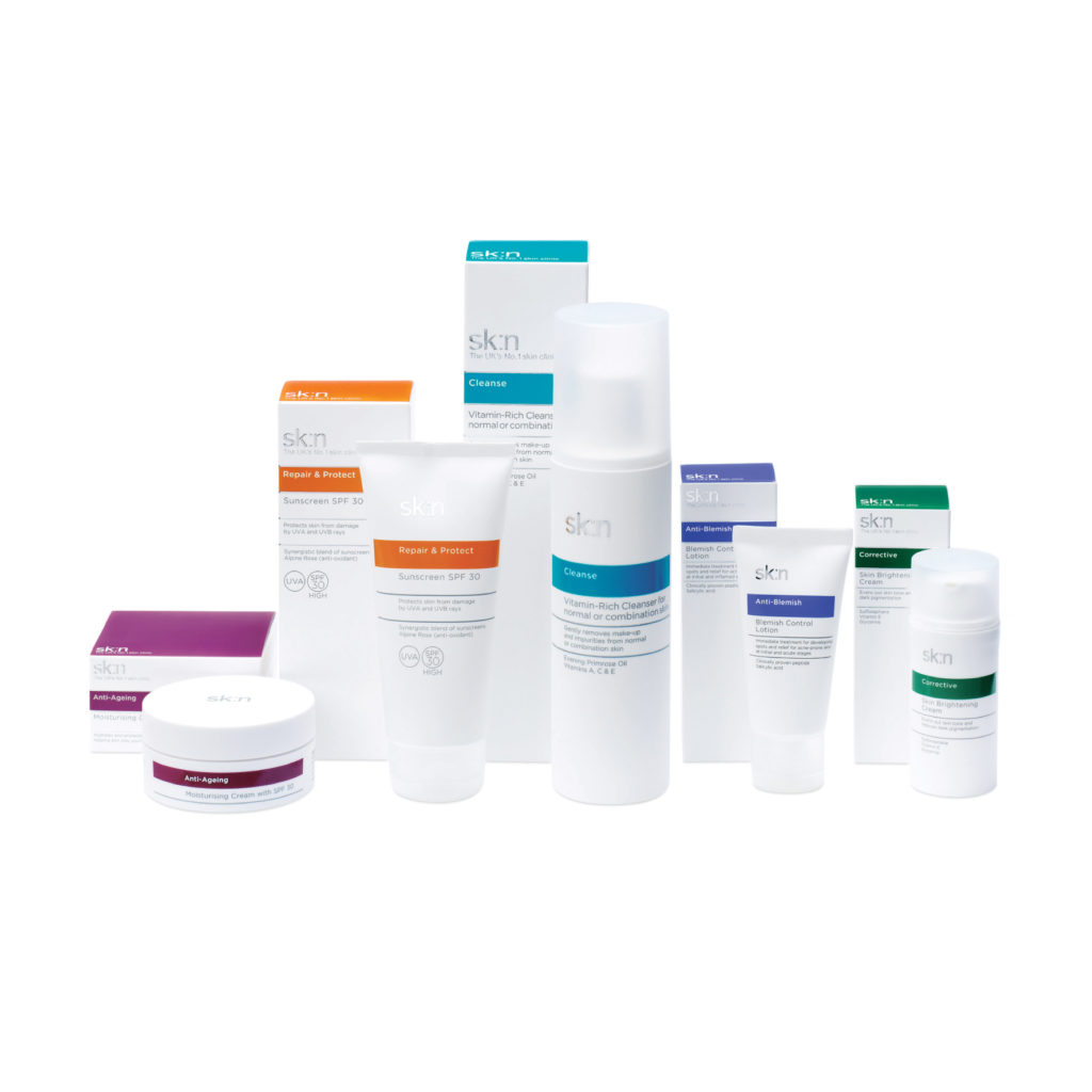 A bundle of skincare products