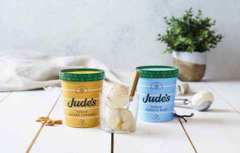 Jude's new oat-based vegan ice cream comes in vanilla bean and salted caramel flavours