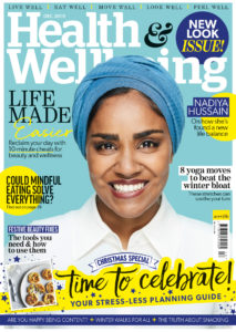 Health & Wellbeing December 2019 cover with Nadiya Hussain
