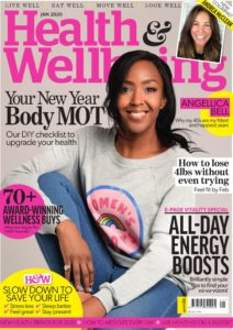 Health & Wellbeing January 2020 issue cover with Angellica Bell