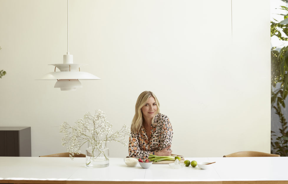 Lisa Faulkner gets ready to cook a delicious breakfast for her family