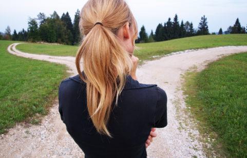 Woman at a Crossroads