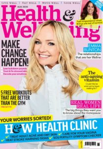 Health Wellbeing magazine August issue cover