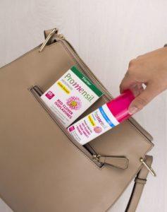 Promensil cooling spray fits in a handbag