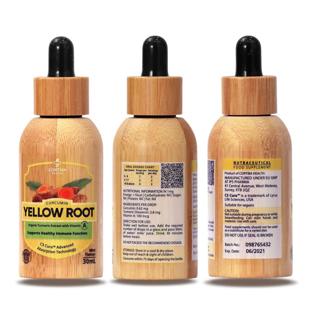 yellow root liquid turmeric with vitamin A