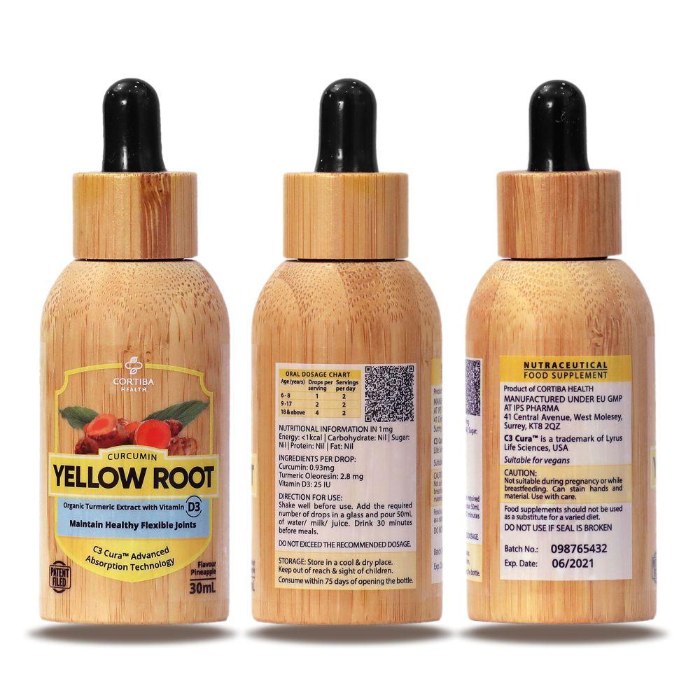 yellow root liquid turmeric with vitamin D3