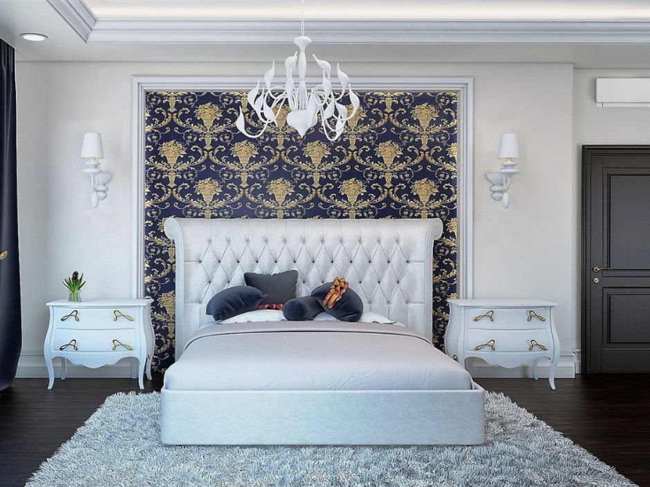 bedroom with grey accents